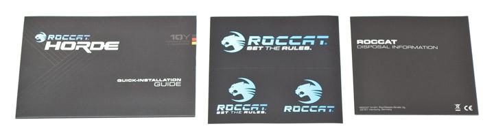 Roccat Horde комплектация