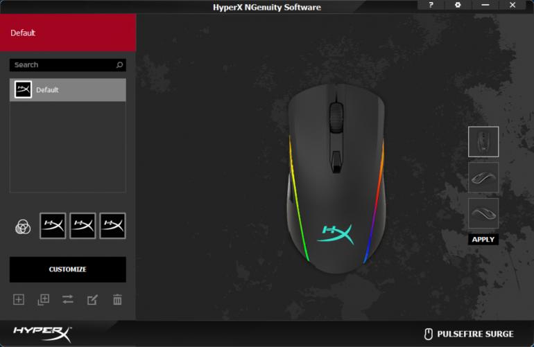 HyperX Pulsefire Surge RGB вид на сенсор