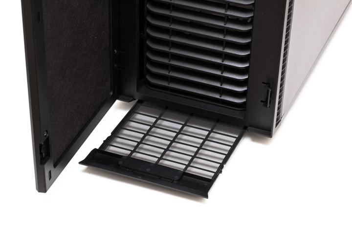 Fractal Design Define вид спереди на выдвижной пылевой фильтр