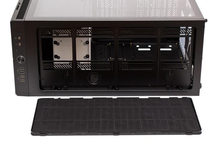 Fractal Design Define вид сверху на открытую верхнюю панель