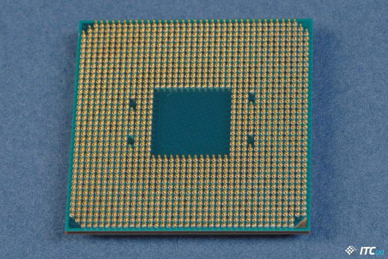 Ryzen 7 процессор вид снизу