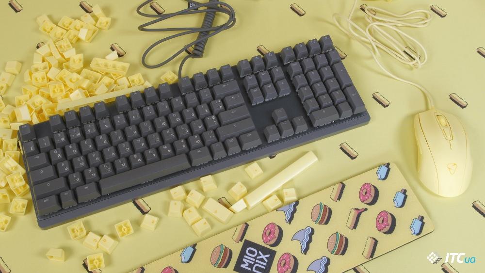 Обзор механической клавиатуры Mionix Wei