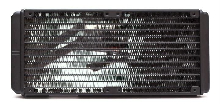 Aerocool P7-L240 вид сверху без вентиляторов