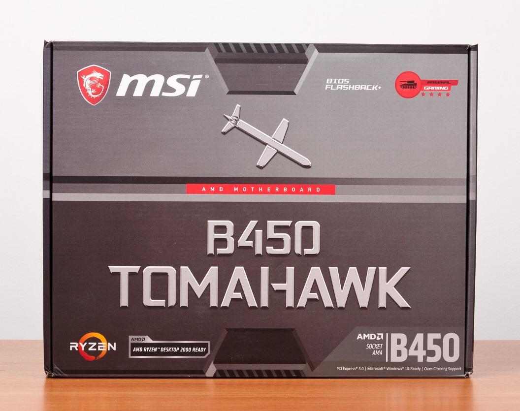 MSI B450 Tomahawk упаковка
