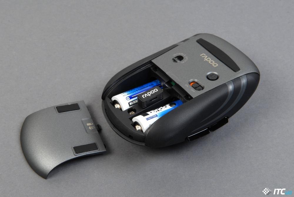 Rapoo MT350 батарейный отсек