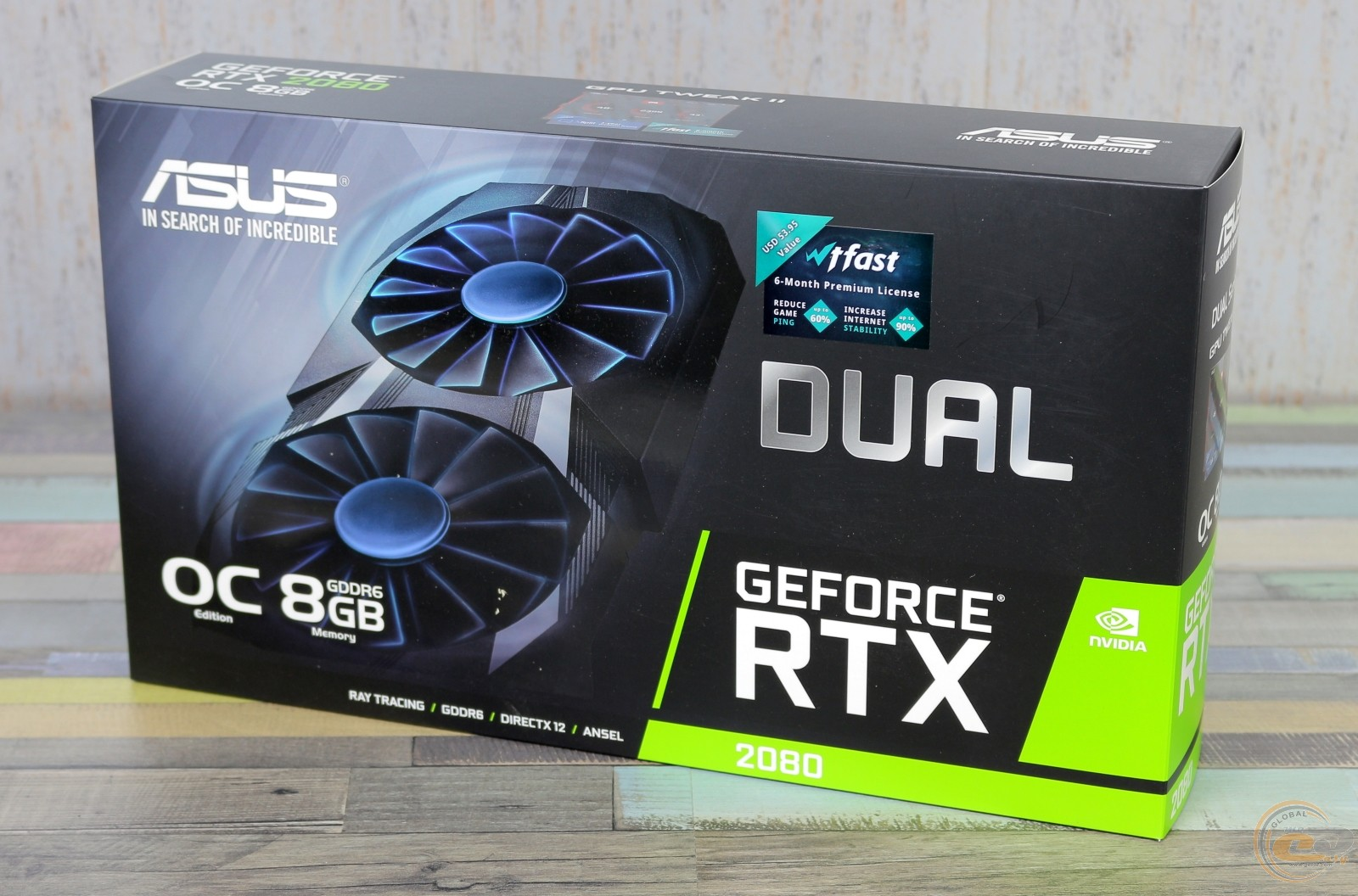 ASUS Dual GeForce RTX 2080 OC упаковка