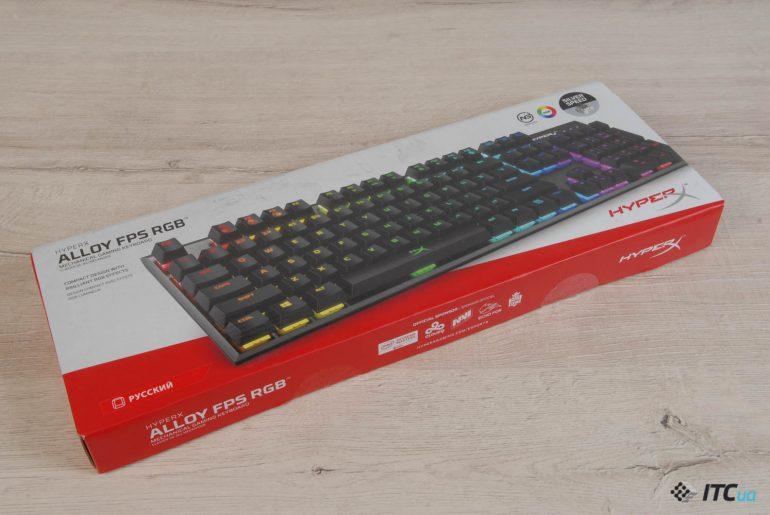 HyperX Alloy FPS RGB упаковка