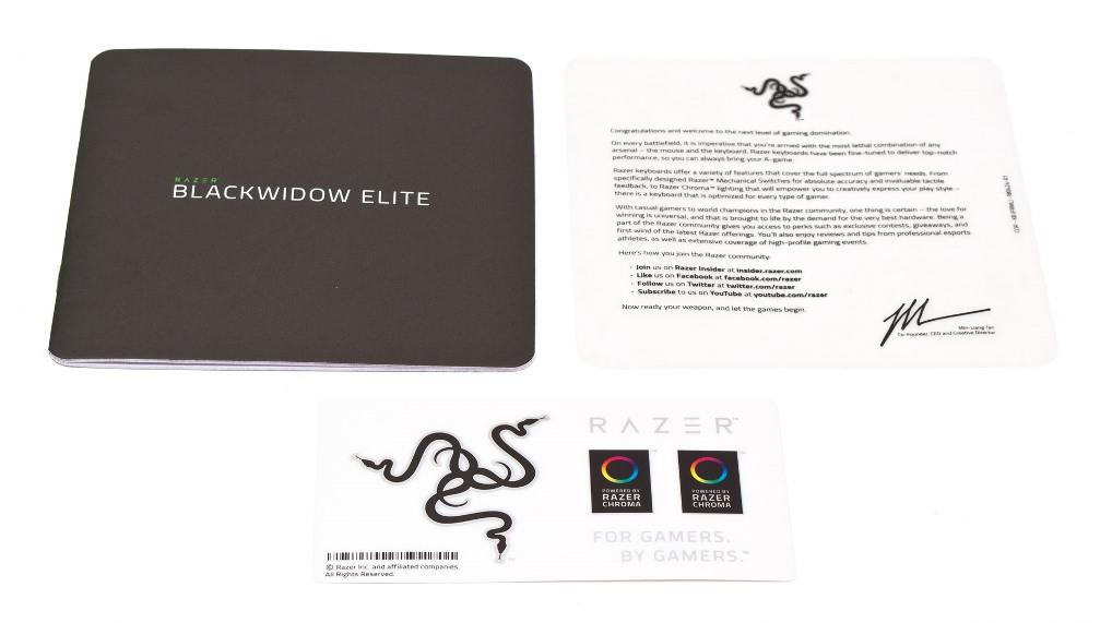 Razer BlackWidow Elite комплектация