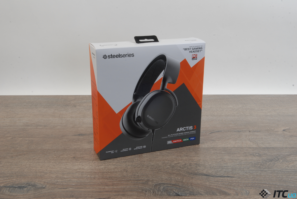 SteelSeries Arctis 3 упаковка