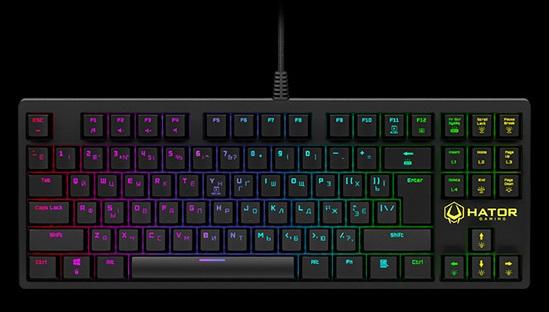 Обзор игровой механической клавиатуры Hator Rockfall TKL