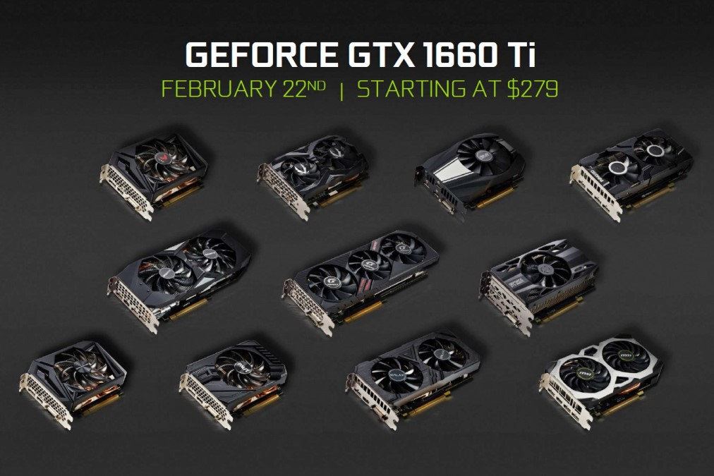 GeForce GTX 1660 Ti видеокарты