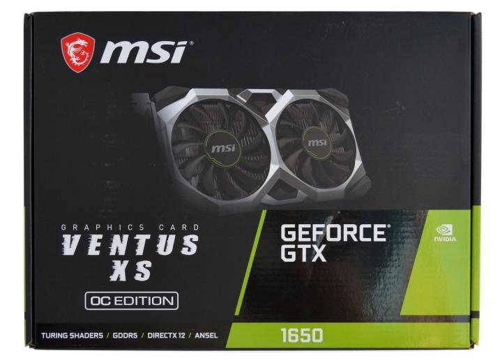 MSI GeForce GTX 1650 упаковка