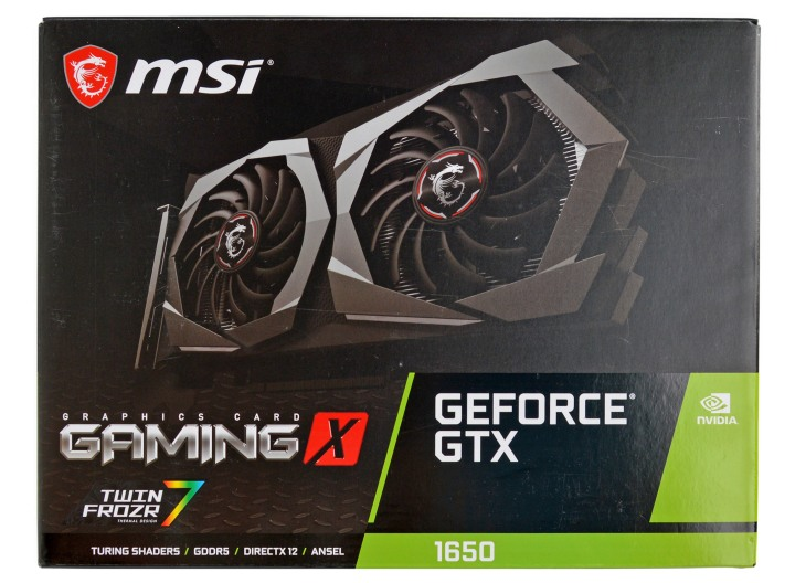 MSI GeForce GTX 1650 Gaming X упаковка