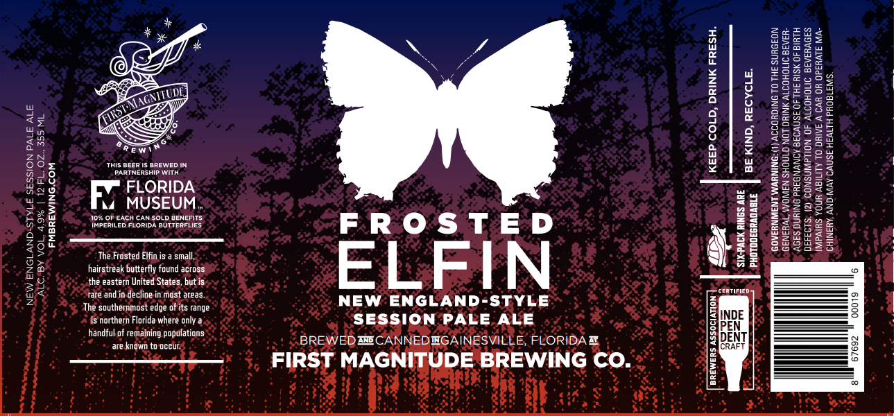 Пиво из дрожжей собранных с бабочек Frosted Elfin