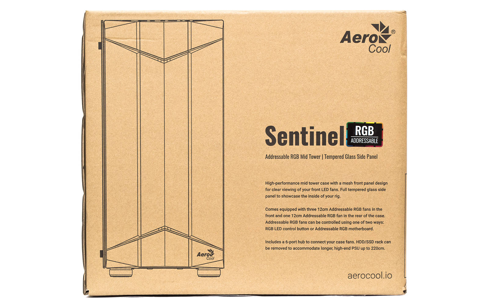 Упаковка Aerocool Sentinel. Фото 1