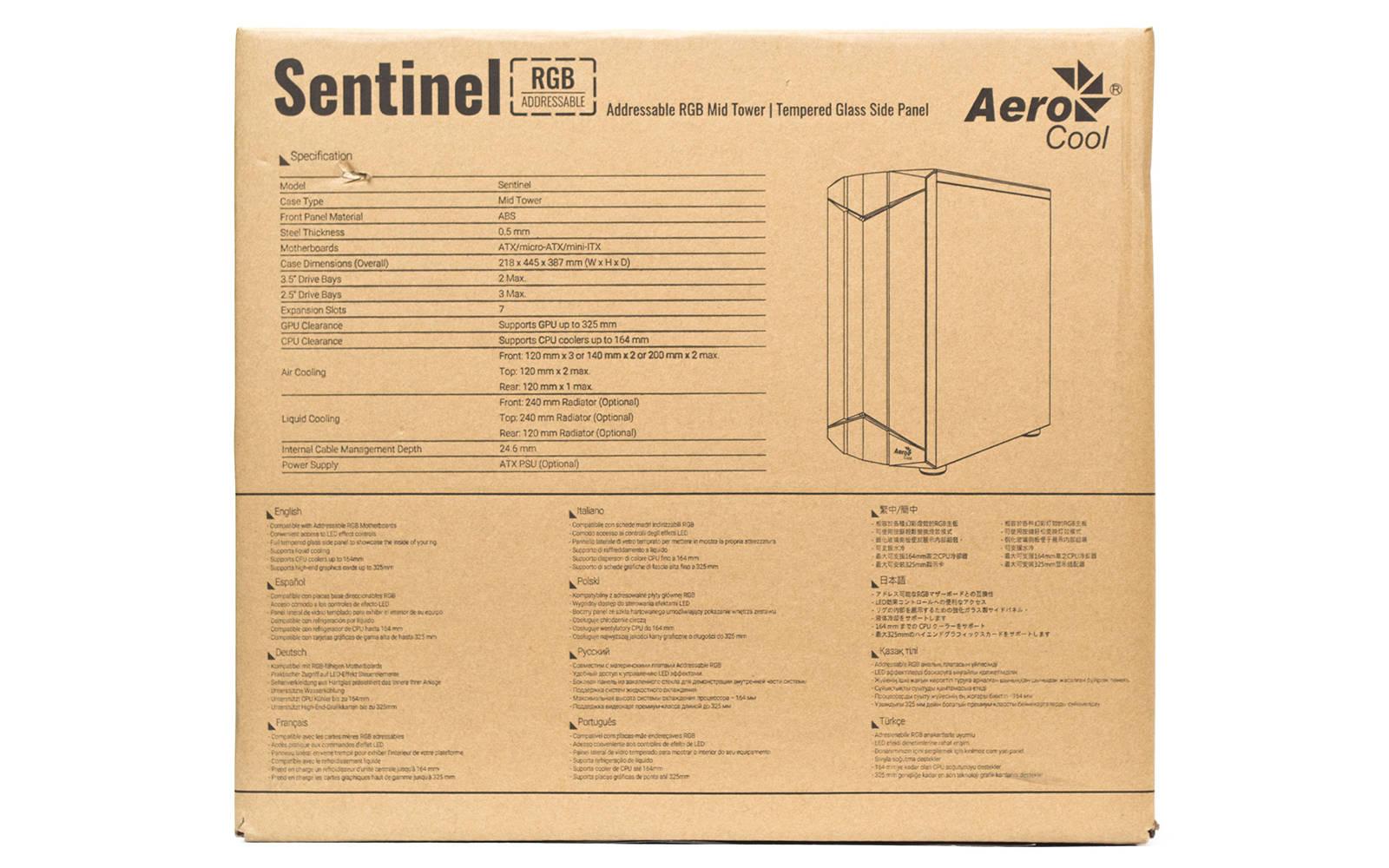 Упаковка Aerocool Sentinel. Фото 2