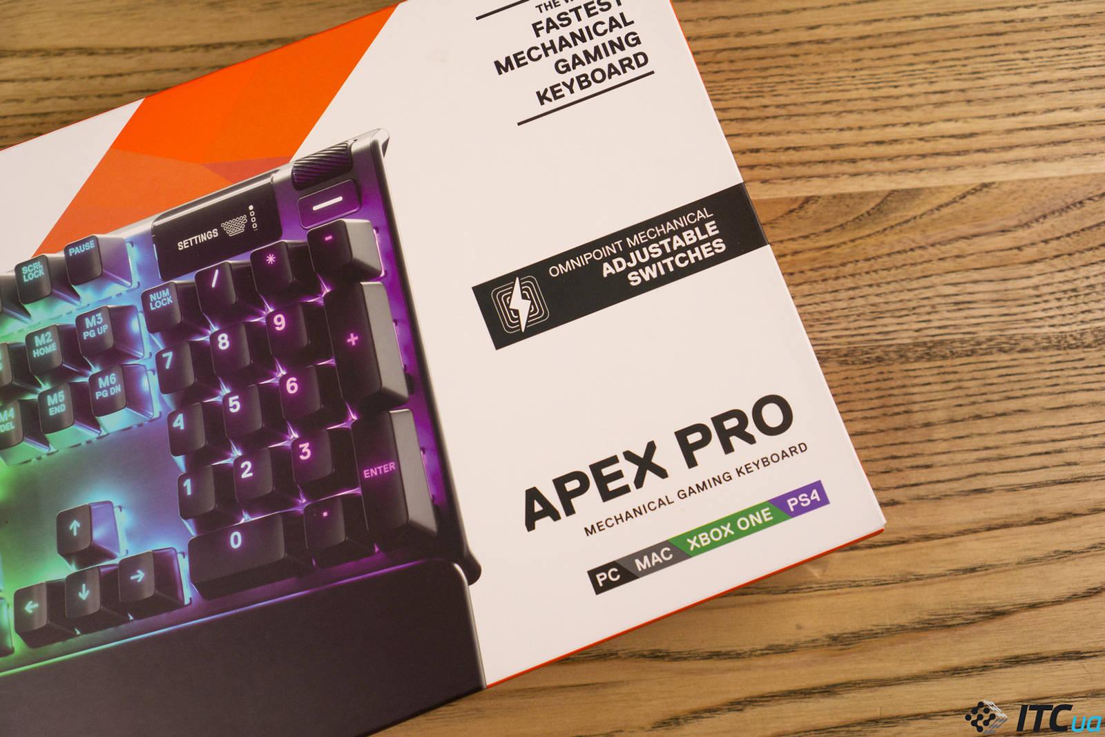 Клавиатура SteelSeries Apex Pro. Фото 1
