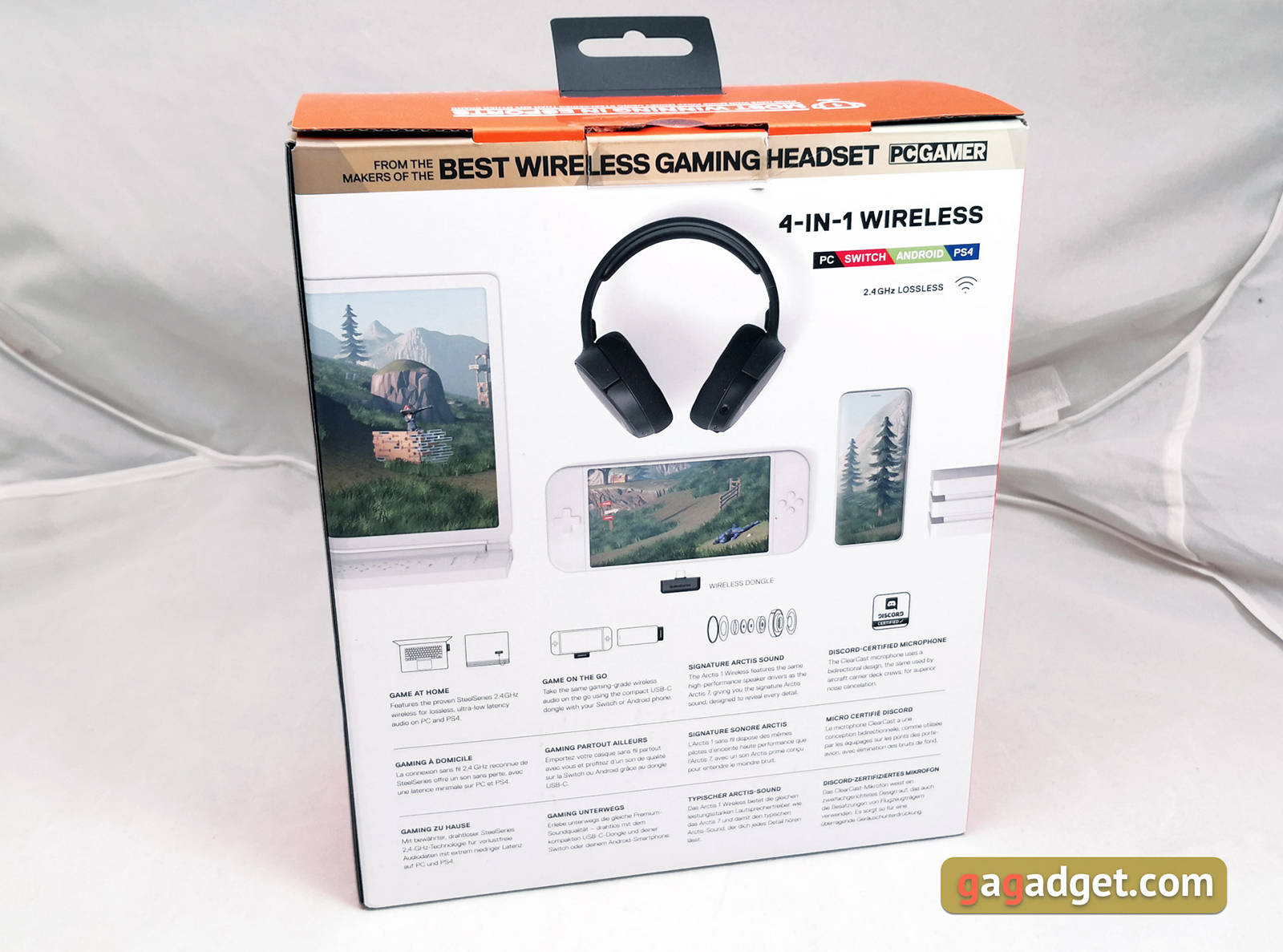 Гарнитура SteelSeries Arctis 1 Wireless. Фото 4