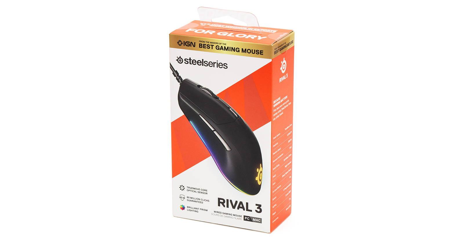 Мышка SteelSeries Rival 3. Фото 2