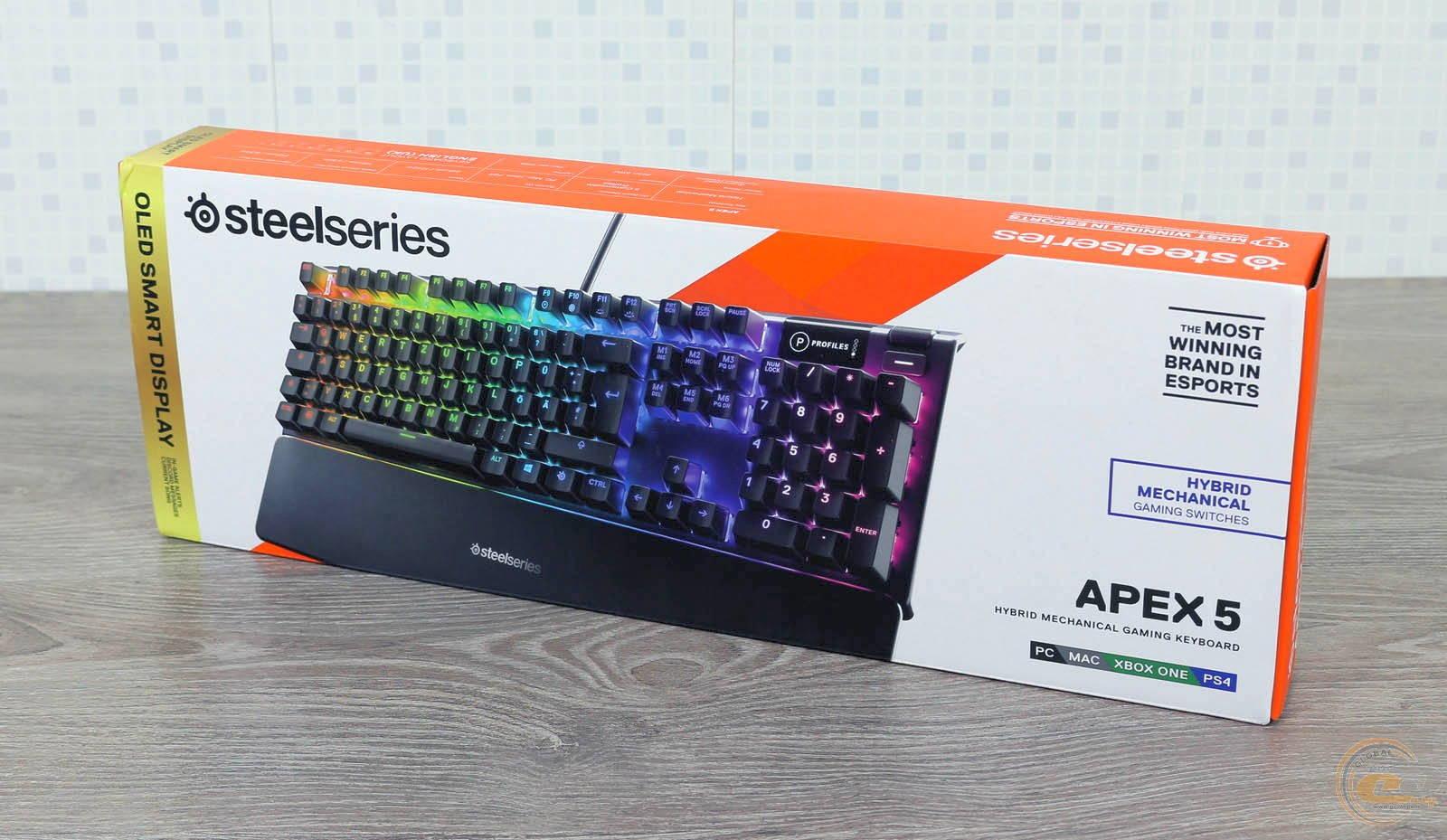 Клавиатура SteelSeries APEX 5. Фото 2