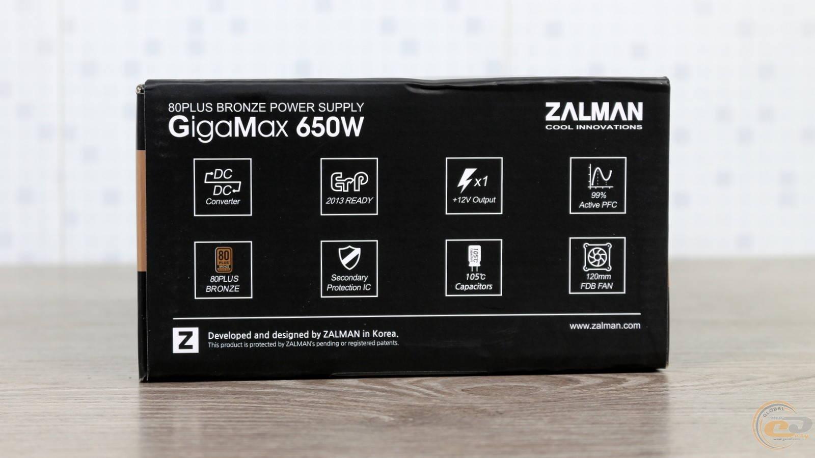 Блок питания Zalman GigaMax 650W. Фото 5