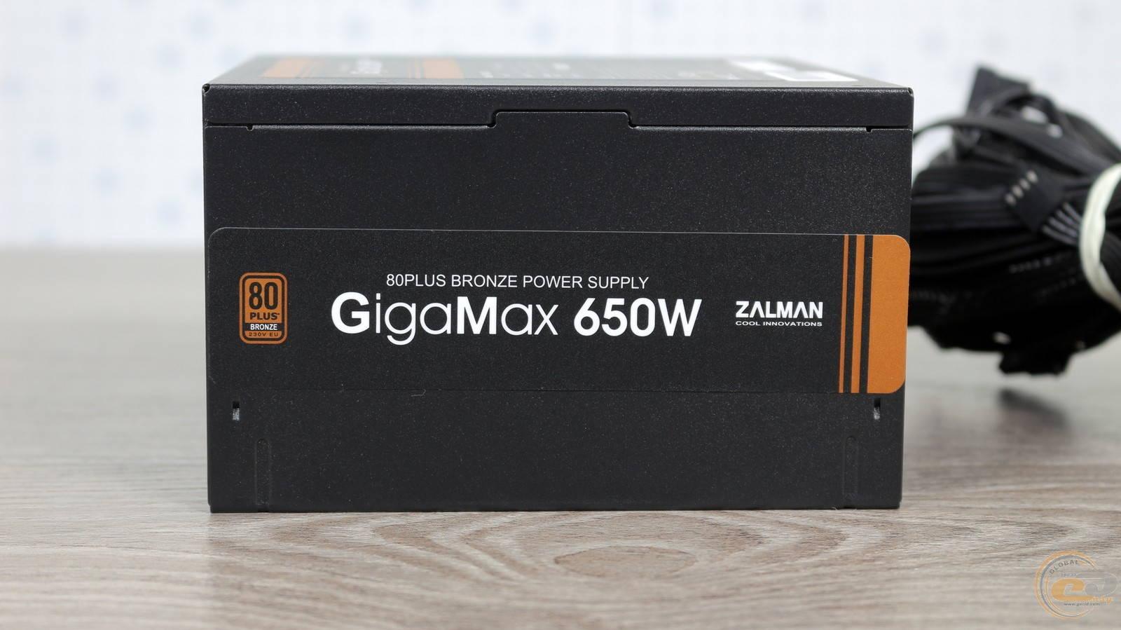 Блок питания Zalman GigaMax 650W. Фото 10