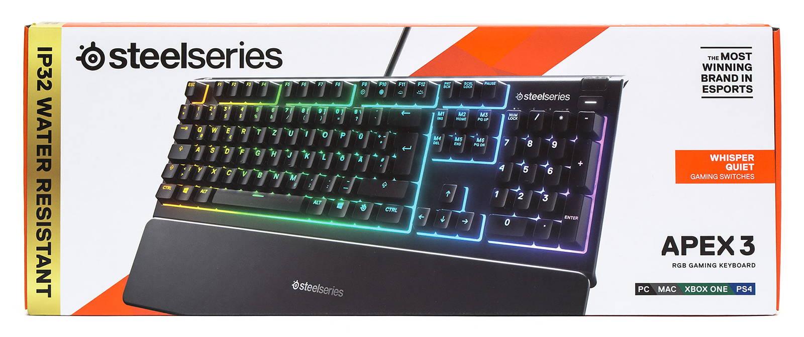 Клавиатура SteelSeries Apex 3. Фото 2