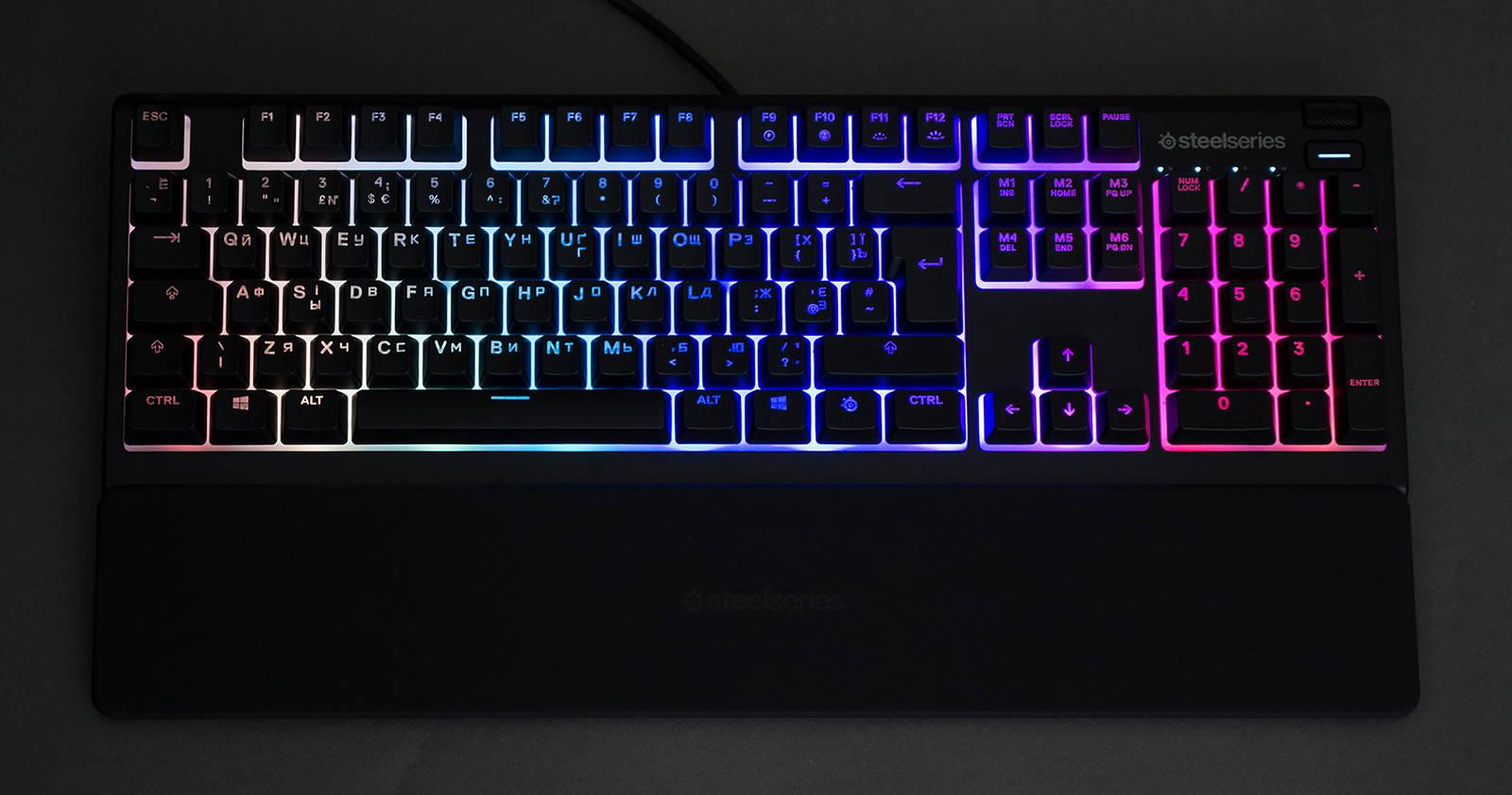 Клавиатура SteelSeries Apex 3. Фото 16