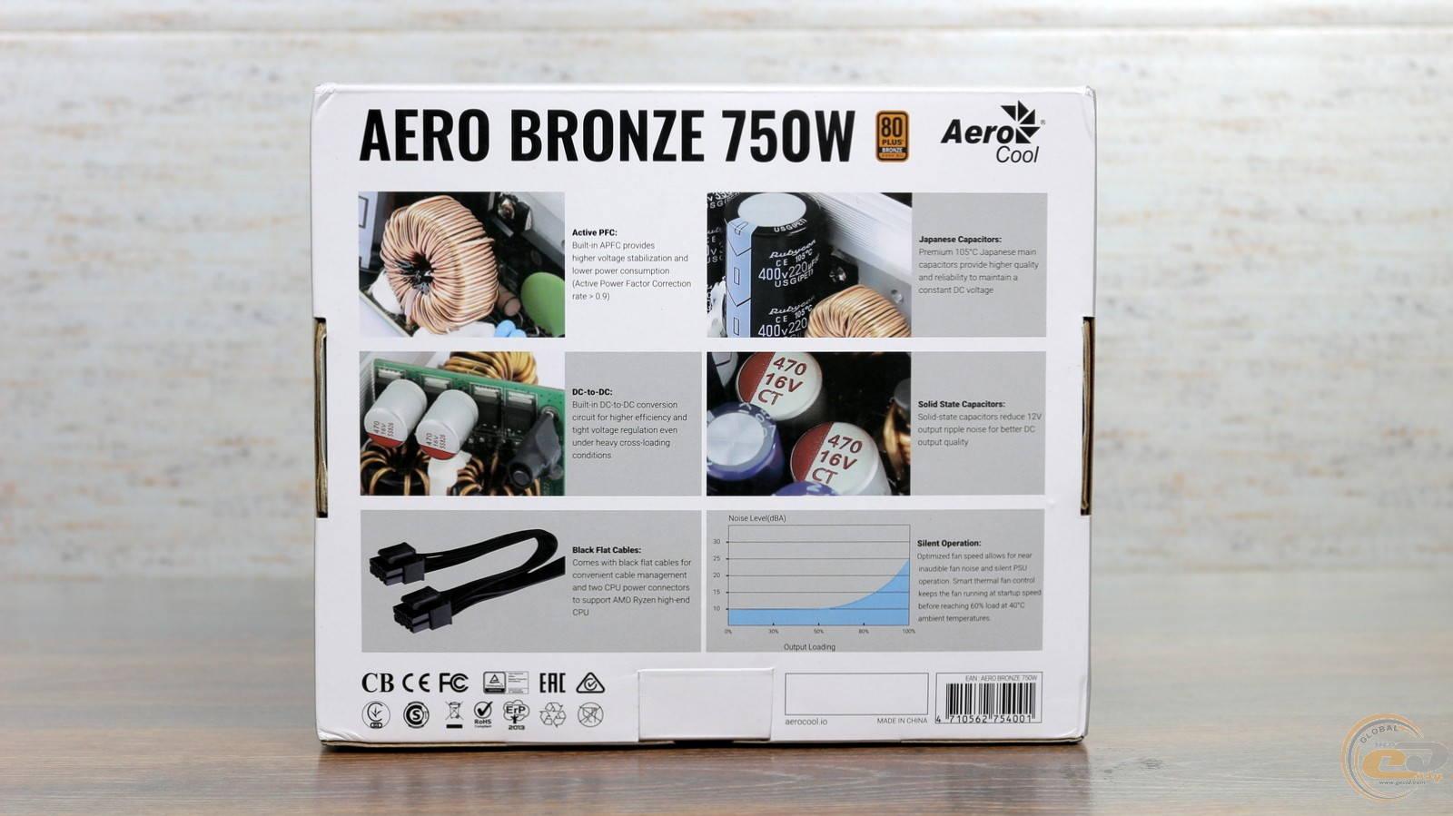 Блок питания Aerocool AERO BRONZE 750W. Фото 3