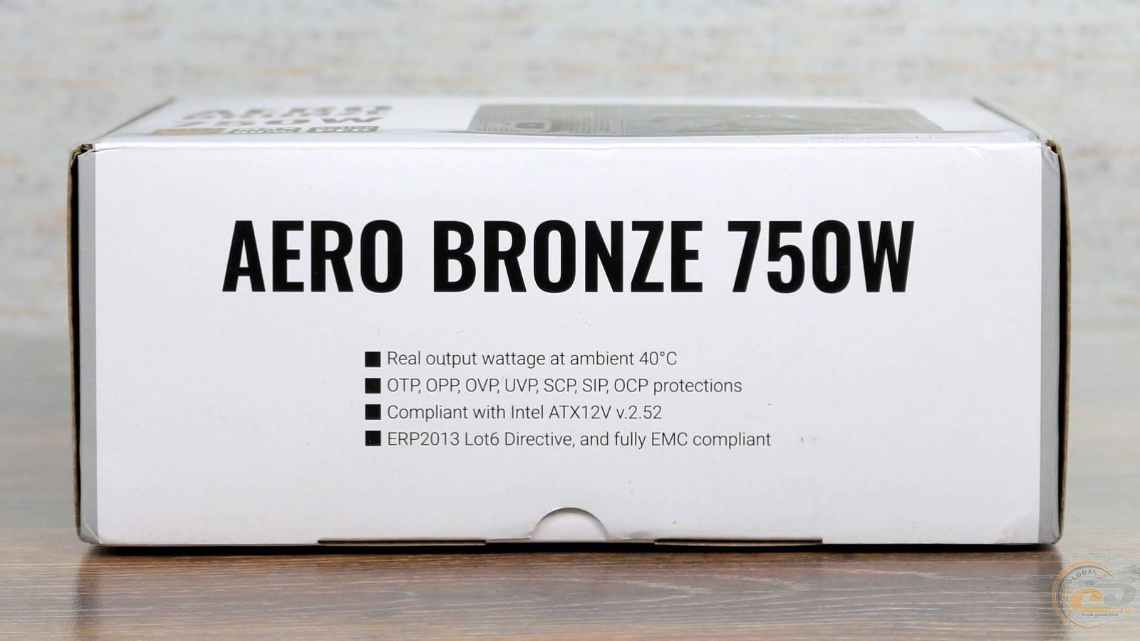 Блок питания Aerocool AERO BRONZE 750W. Фото 4