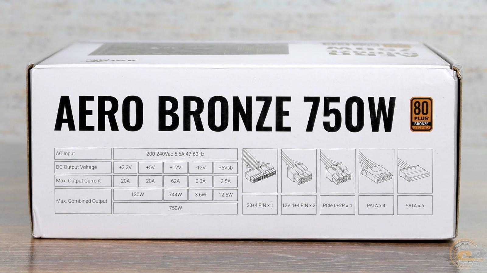 Блок питания Aerocool AERO BRONZE 750W. Фото 5