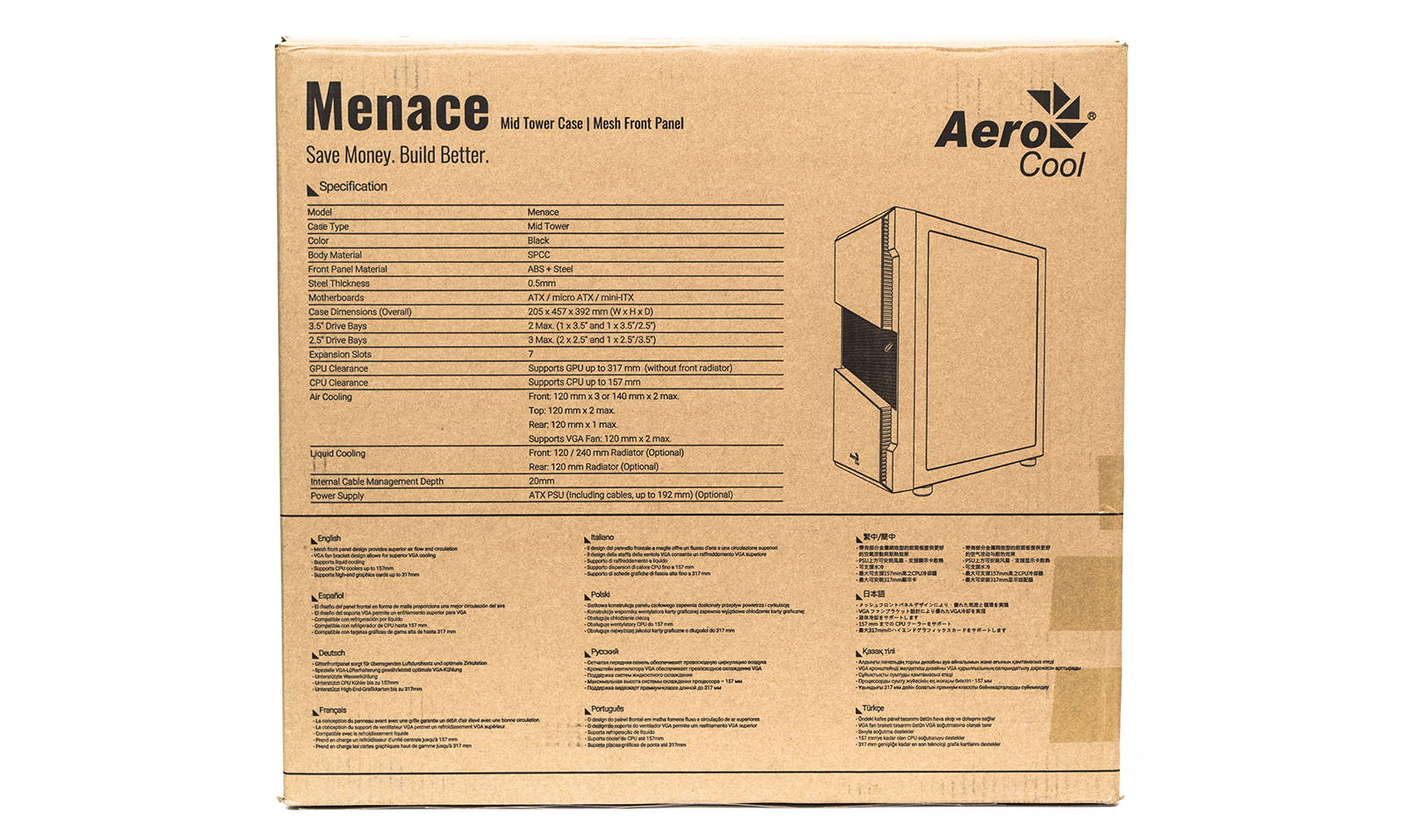 Корпус Aerocool Menace Saturn RGB. Фото 3