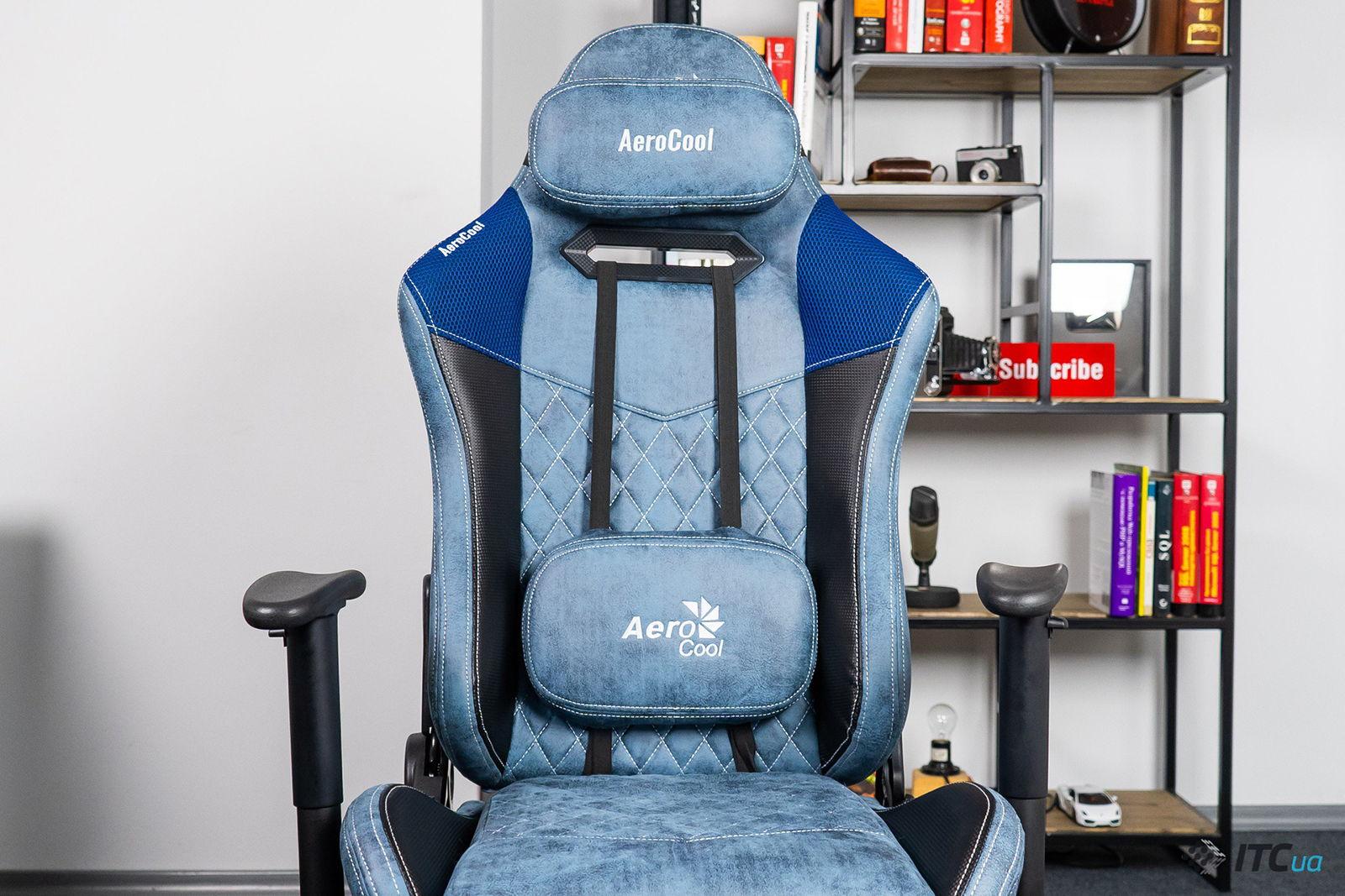 Игровое кресло AeroCool Duke Steel Blue. Фото 2