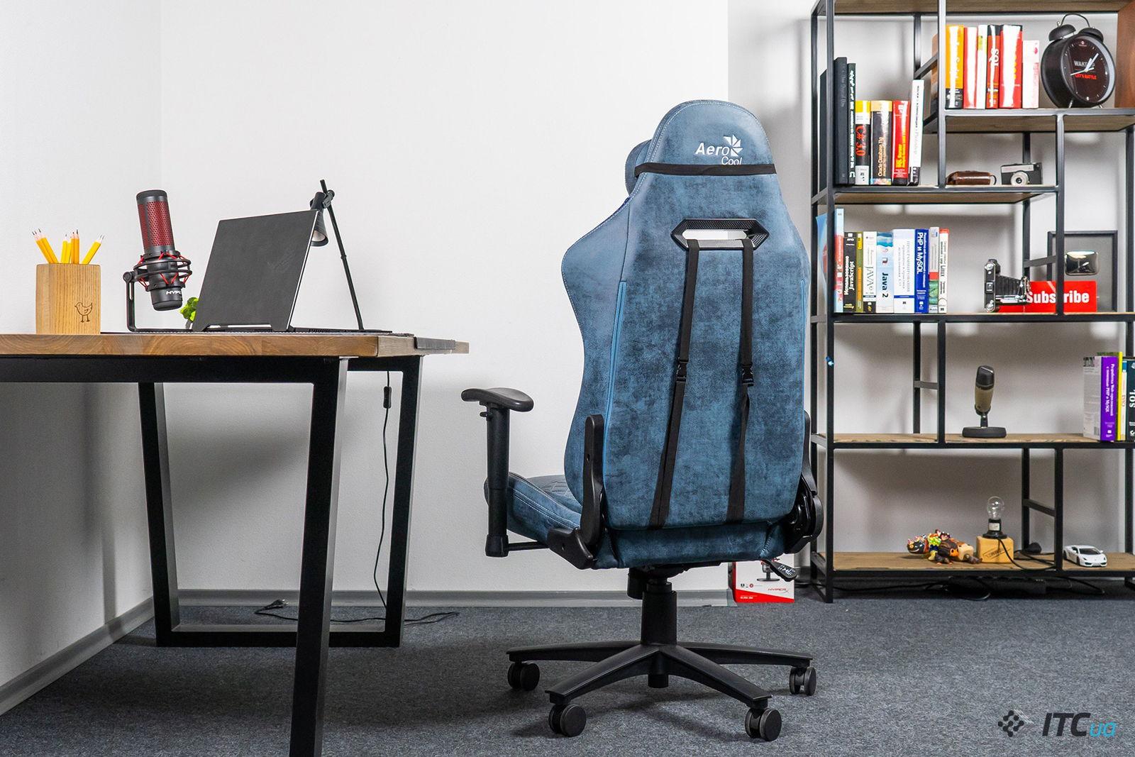 Игровое кресло AeroCool Duke Steel Blue. Фото 4