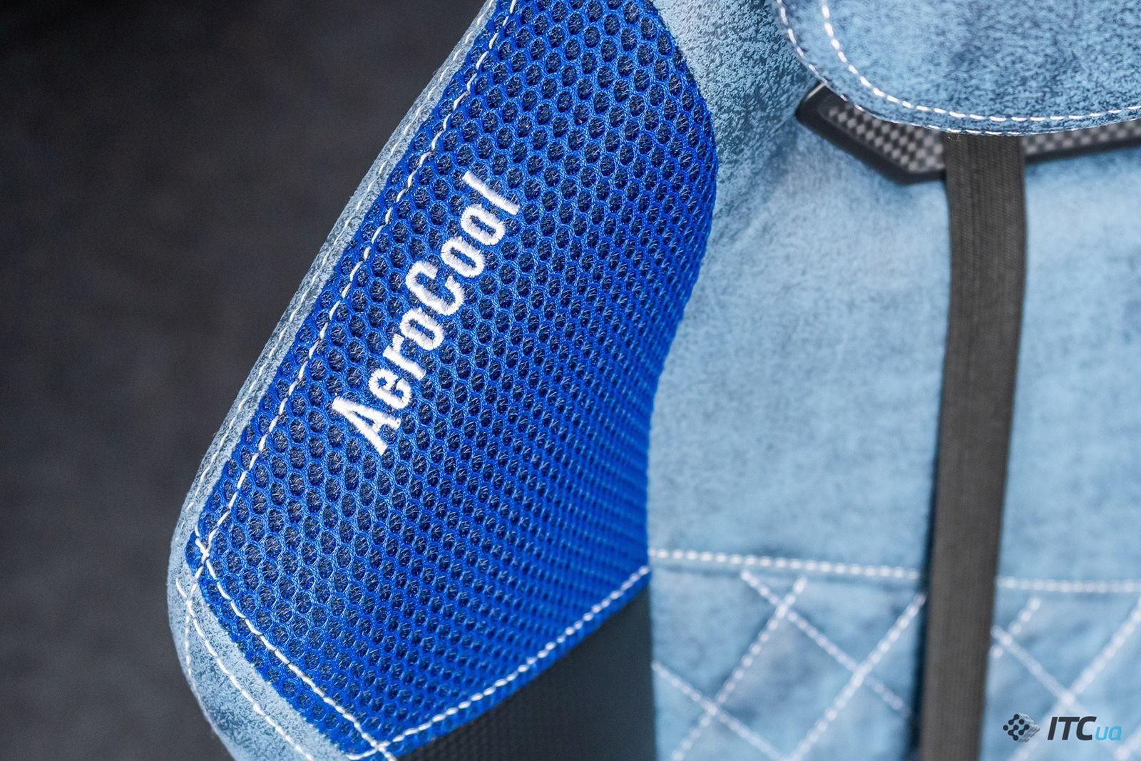 Игровое кресло AeroCool Duke Steel Blue. Фото 6