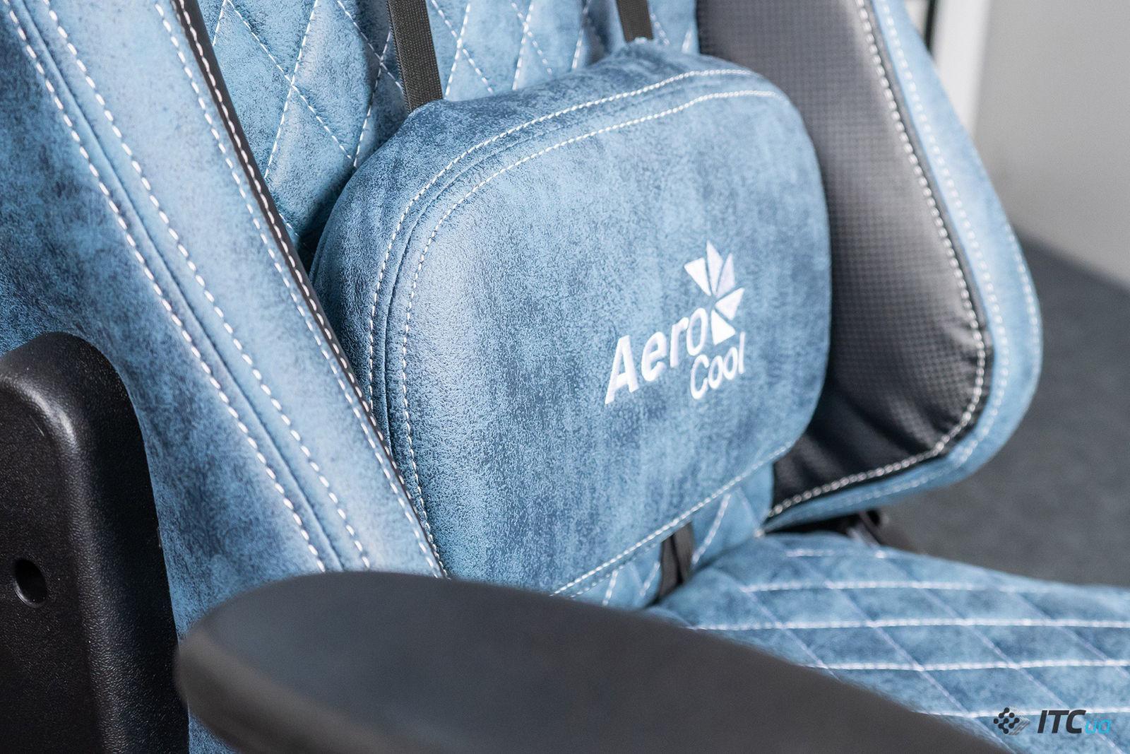 Игровое кресло AeroCool Duke Steel Blue. Фото 7
