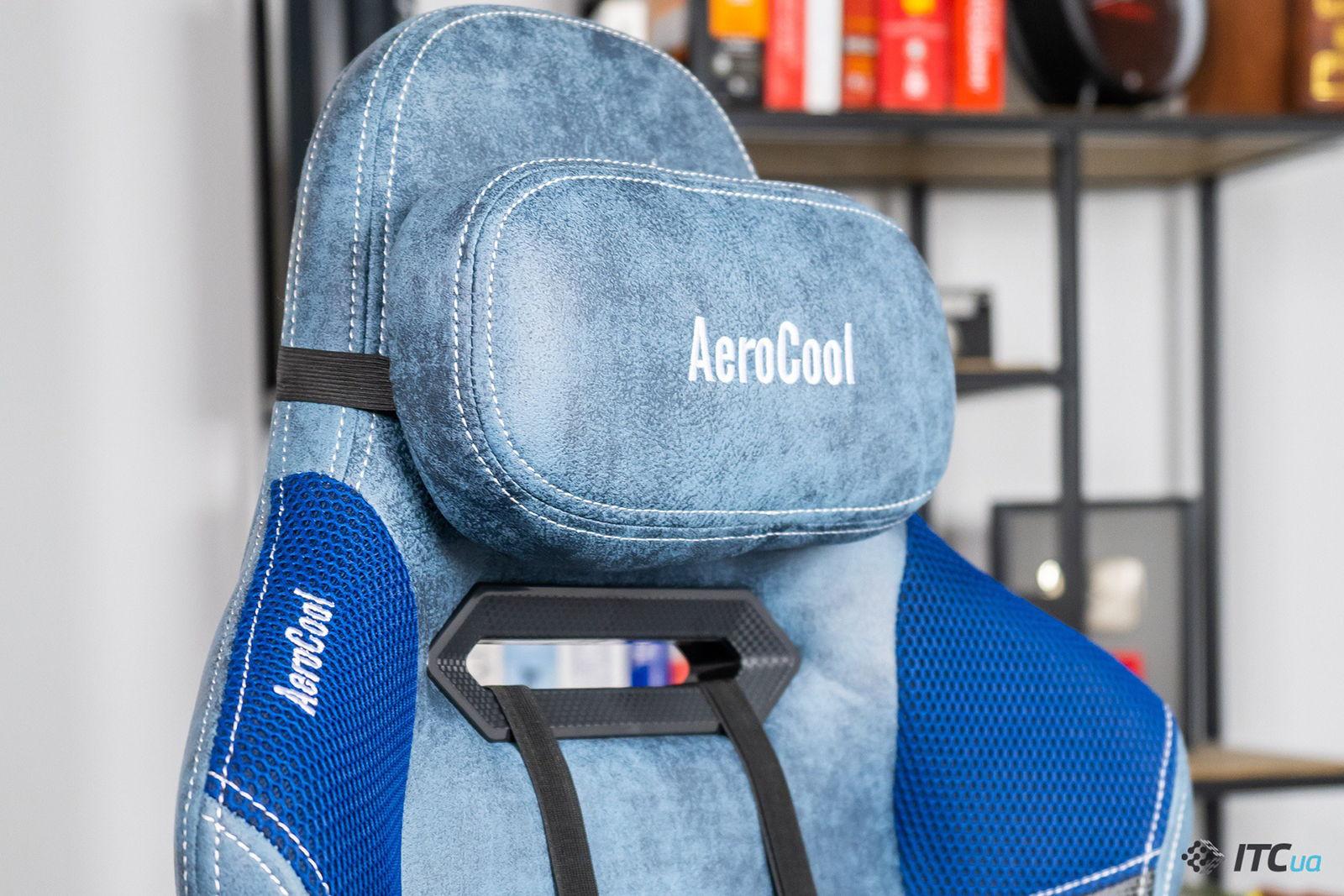 Игровое кресло AeroCool Duke Steel Blue. Фото 8