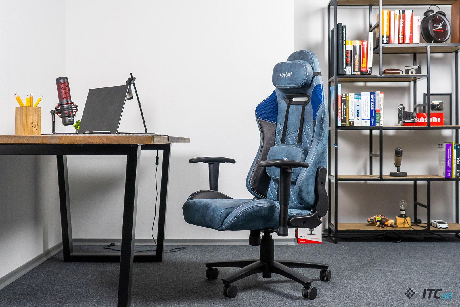Игровое кресло AeroCool Duke Steel Blue. Фото 10