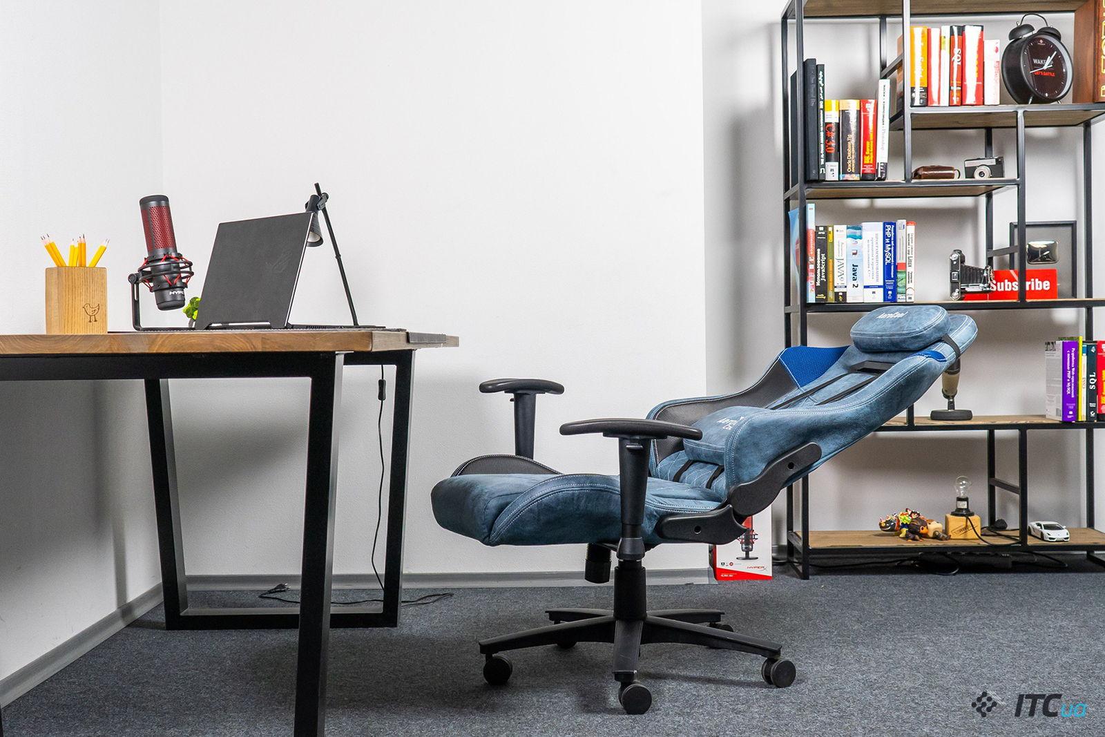 Игровое кресло AeroCool Duke Steel Blue. Фото 11