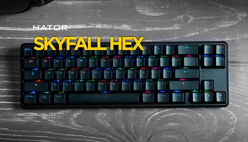Обзор механической клавиатуры Hator Skyfall HEX