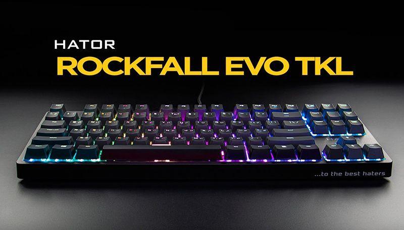 Обзор клавиатуры Hator Rockfall Evo TKL: 87 клавиш и RGB в металле