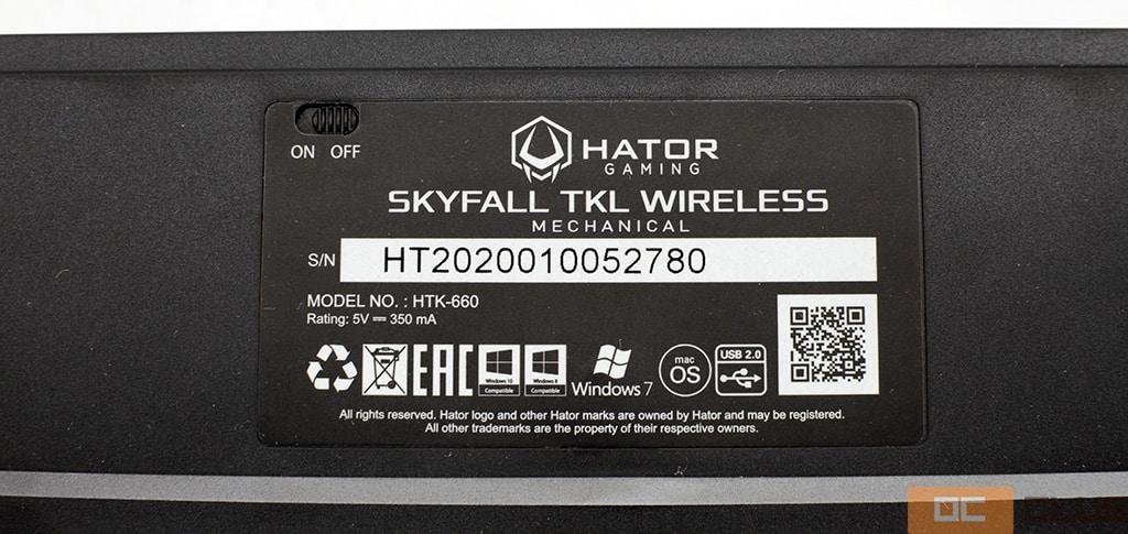 Клавиатура Hator Skyfall TKL. Фото 15