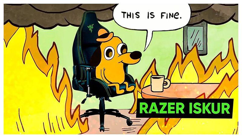 Кресло, в котором можно гореть! Razer Iskur