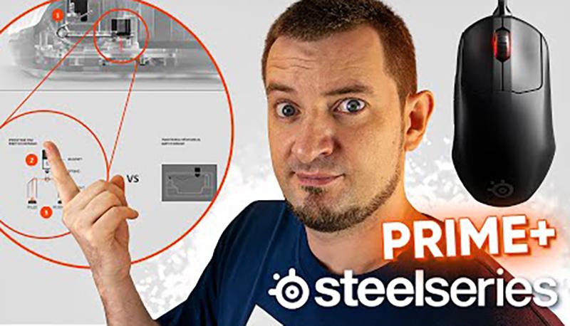 Лучшая мышь SteelSeries! Топ форма, экран, оптические свитчи, два сенсора! SteelSeries Prime+