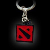 Dota 2 Logo (Red/Black) Keychain