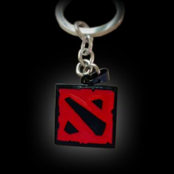 Dota 2 Logo (Red/Black) Keychain