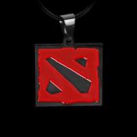 Медальон Dota 2 черный