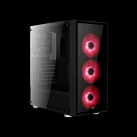 AeroCool PGS Quartz Red Window Glass Black (ACCM-PB07043.R1)