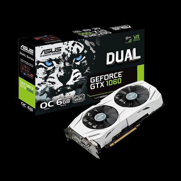 Asus GeForce® GTX 1060 Dual OC 6G (DUAL-GTX1060-O6G) фото