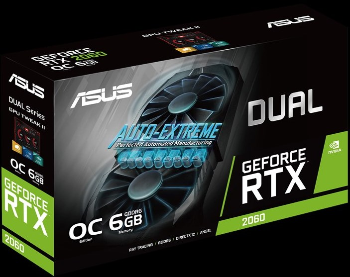 ASUS Dual GeForce RTX 2060 упаковка